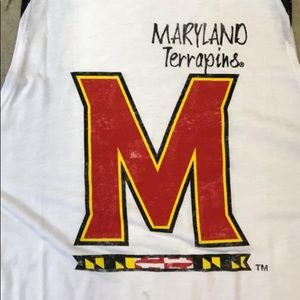 NWT Maryland Terrapins White w/Red Ladies Tank Med